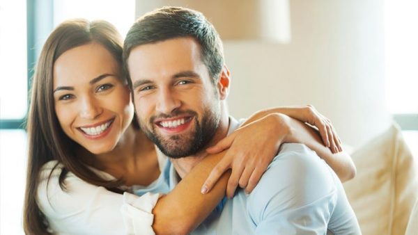 Man-and-woman-are-happy-and-smiling