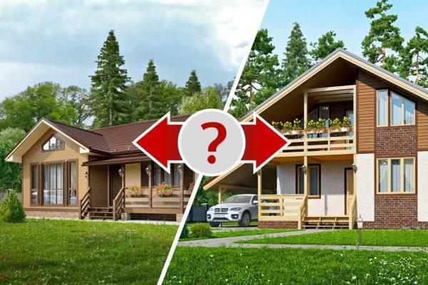Когда следует выбирать одноэтажный, а когда двухэтажный дом?