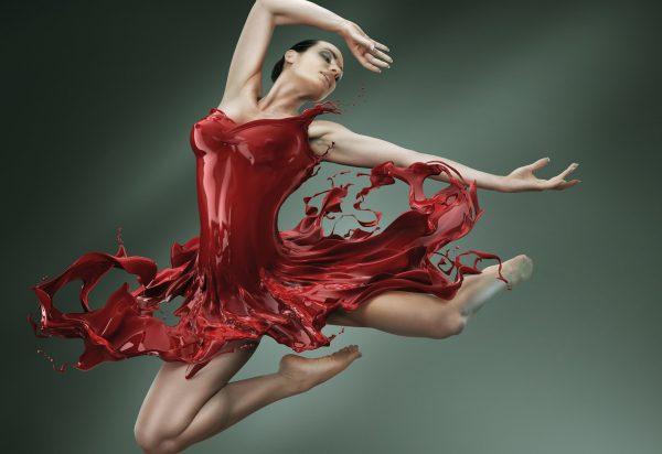 Обои девушка, балет, балерина, платье, фигура, краска для рабочего ...